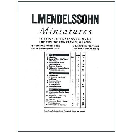 Mendelssohn, L.: Miniatures