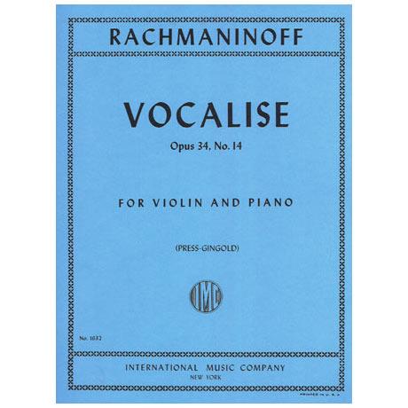 Rachmaninow, S.: Vocalise Op. 34 Nr. 14