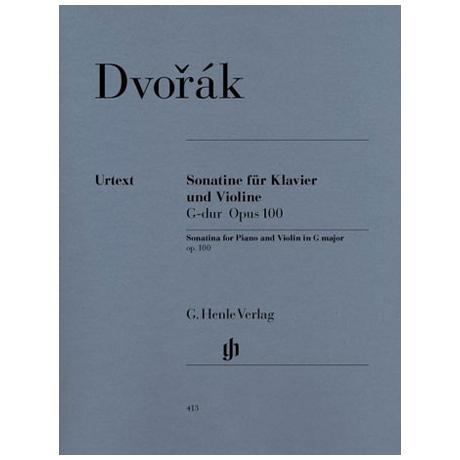 Dvořák, A.: Violinsonatine Op. 100 G-Dur