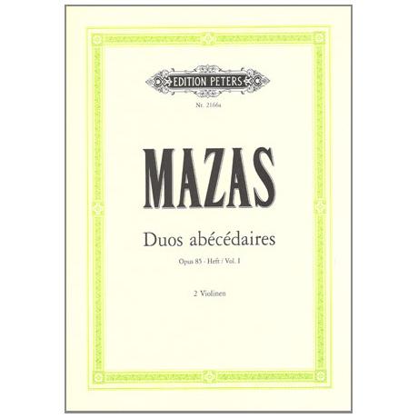 Mazas, J-F.: Duos abécédaires op.85 Band 1