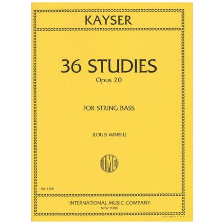 Kayser, H.E.: 36 Studies, Op. 20