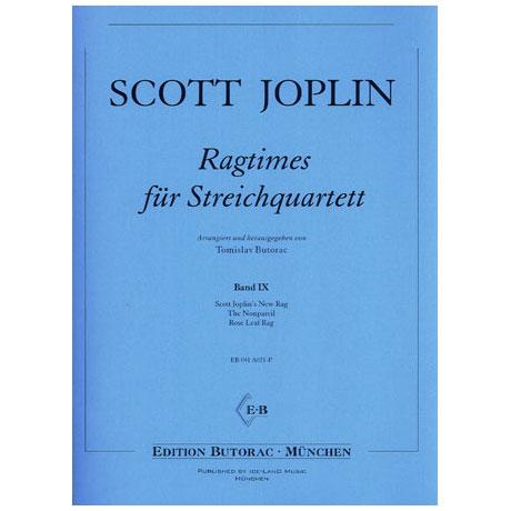 Joplin, S.: Ragtimes für Streichquartett Band 9