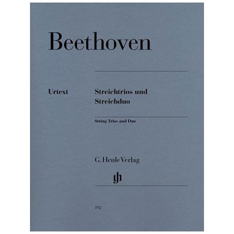 Beethoven, L.v.: Streichtrios Op. 3, 8 und 9 und Streichduo WoO 32