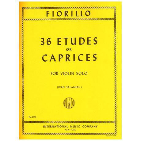 Fiorillo, F.: 36 Etüden oder Capricen