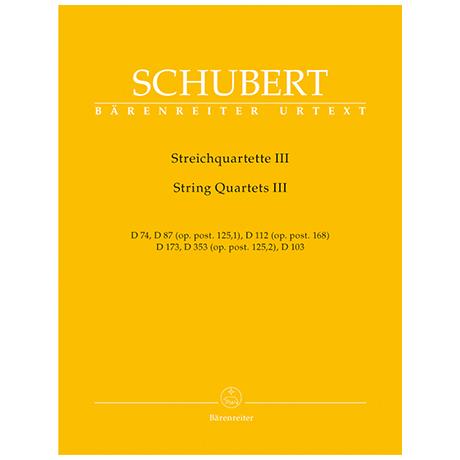 Schubert, F.: Streichquartette Band 3 – Stimmen