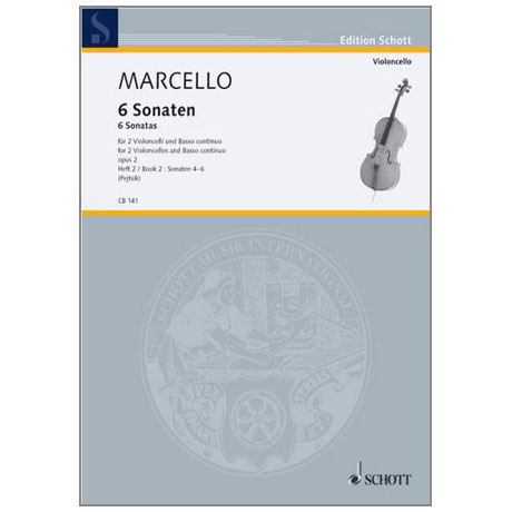 Marcello, B.: 6 Sonaten Band 2 Nr. 4-6
