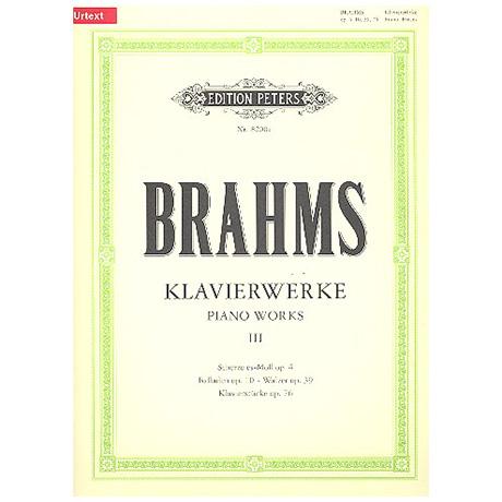 Brahms, J.: Klavierstücke Op. 4, 10, 39, 76