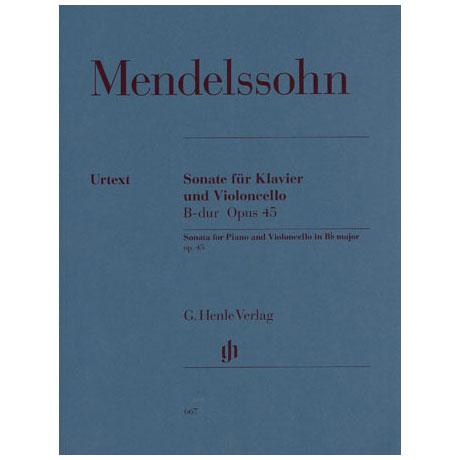 Mendelssohn Bartholdy, F.: Cellosonate Nr. 1 B-Dur, Op. 45 Urtext