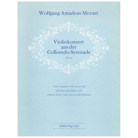 Mozart, W. A.: Violinkonzert aus der Colloredo-Serenade