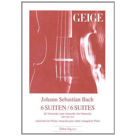 Bach, J. S.: 6 Suiten BWV 1007-1012 für Violine