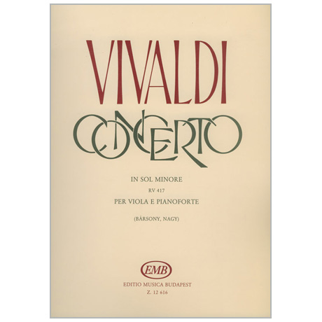 Vivaldi, A.: Violakonzert g-Moll nach RV 417