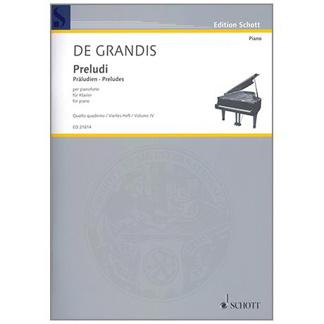 Grandis, R. d: Preludi Heft 4
