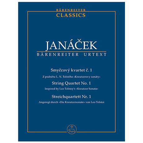 Janáček, L.: Streichquartett Nr. 1 »Kreutzersonate« – Partitur