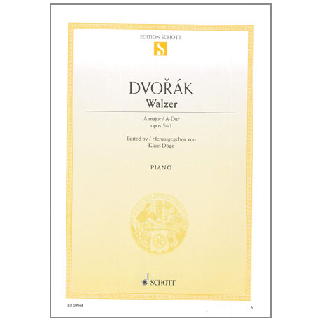 Dvořák, A.: Walzer A-Dur Op. 54 Nr. 1
