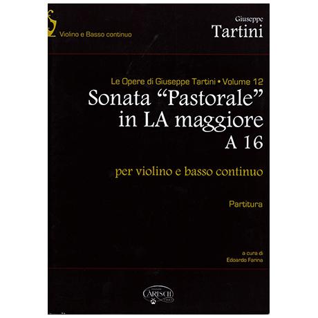 Tartini, G.: Violinsonata pastorale A 16 A-Dur