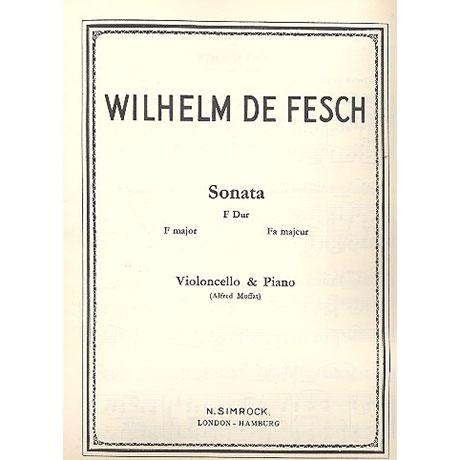 De Fesch, W.: Violoncellosonate F-Dur