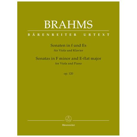Brahms, J.: Violasonaten Op. 120 f-Moll und Es-Dur