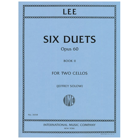 Lee, S.: 6 Duets Op.60 Band 2 (Nr.4-6)