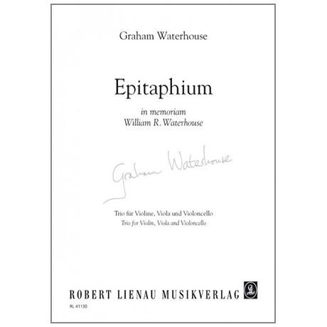 Waterhouse, G.: Epitaphium in memoriam William R. Waterhouse
