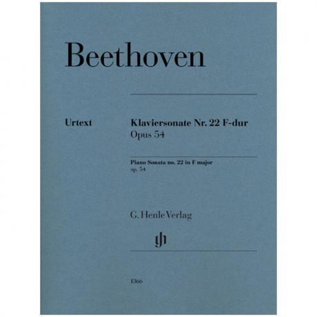 Beethoven, L. v.: Klaviersonate Nr. 22 Op. 54 F-Dur
