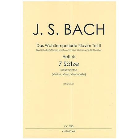 Bach, J. S.: 7 dreistimmige Sätze aus dem Wohltemperierten Klavier Teil II
