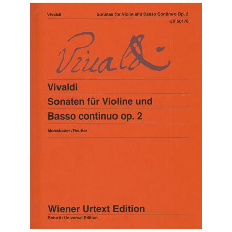 Vivaldi, A.: Sonaten für Violine und Basso continuo Op.2