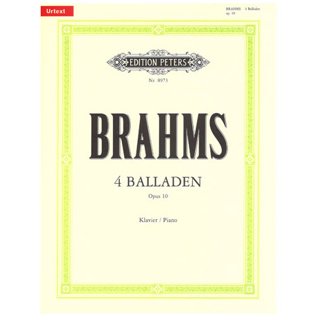 Brahms, J.: 4 Balladen Op. 10