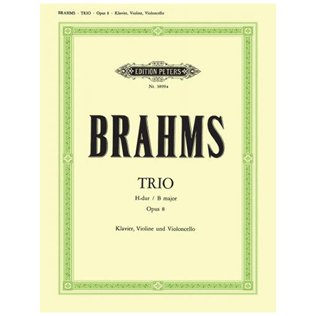 Brahms, J.: Klaviertrio Nr. 1 H-Dur, op. 8 (2. Fassung)