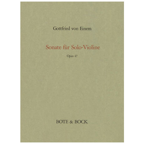 Einem, G. v.: Sonate Op. 47