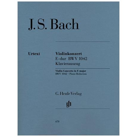 Bach, J.S.: Konzert E-Dur BWV 1042