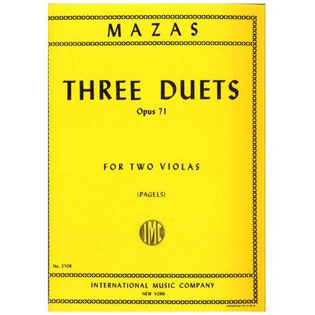Mazas, J.: 3 Duette für 2 Violen op. 71