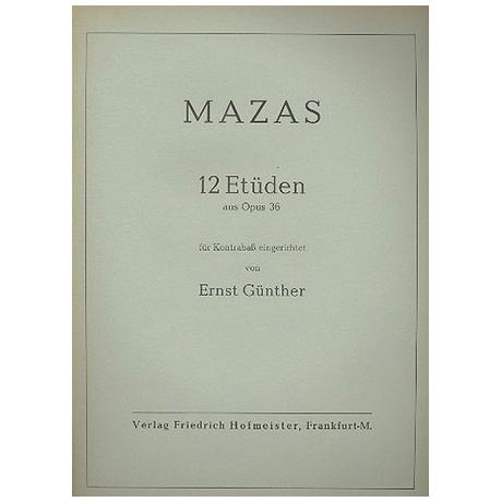 Mazas, Jacques: 12 Etüden aus op. 36