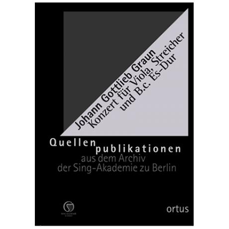 Graun, J. G.: Konzert für Viola, Streicher und Basso continuo GraunWV Cv:XIII:116 Es-Dur