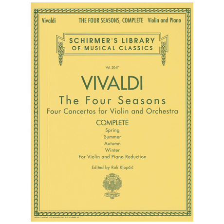 Vivaldi, A.: Die Vier Jahreszeiten Op. 8/1-4