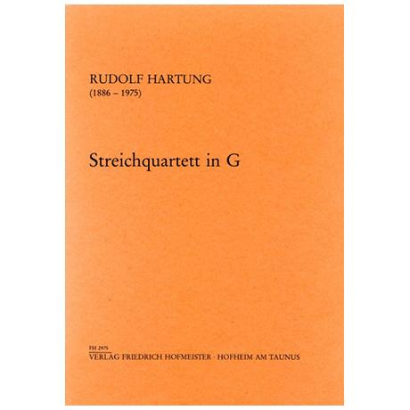 Hartung, R.: Streichquartett Nr. 3 in G