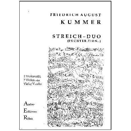 Kummer, F.A.: Duo op. 156, G - Dur, Variationen über die Melodie Tochter Zion...