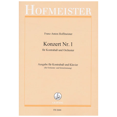Hoffmeister, F. A.: Kontrabasskonzert Nr. 1