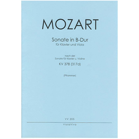 Mozart, W. A.: Violasonate B-Dur nach KV 378