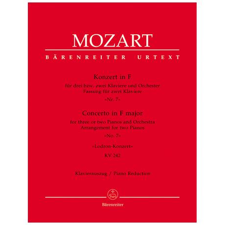 Mozart, W. A.: Klavierkonzert Nr. 7 KV 242 F-Dur »Lodron-Konzert«
