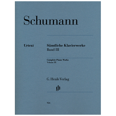Schumann, R.: Sämtliche Klavierwerke Band 3