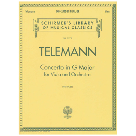 Telemann, G. Ph.: Violakonzert G major