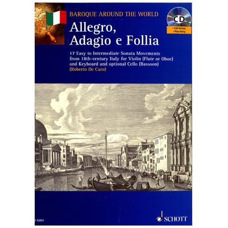 Allegro, Adagio e Folia (+ CD) – 17 Stücke für Violine