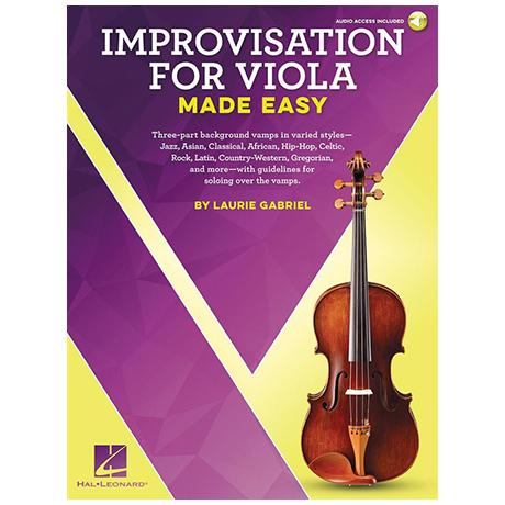 Gabriel, L.: Improvisation for Viola Made Easy (+ Online Audio)