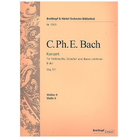 Bach, C. P. E.: Konzert Wq 171 B-Dur
