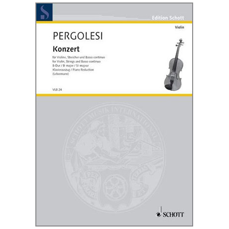 Pergolesi, G. B.: Violinkonzert B-Dur