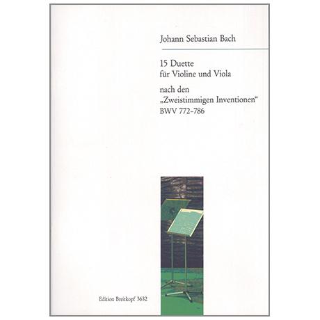Bach, J.S.: 15 Duette nach den zweist. Inventionen BWV 772-786