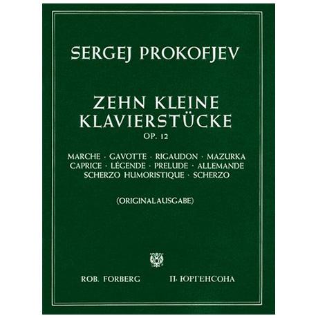 Prokofjew, S.: 10 kleine Klavierstücke Op. 12