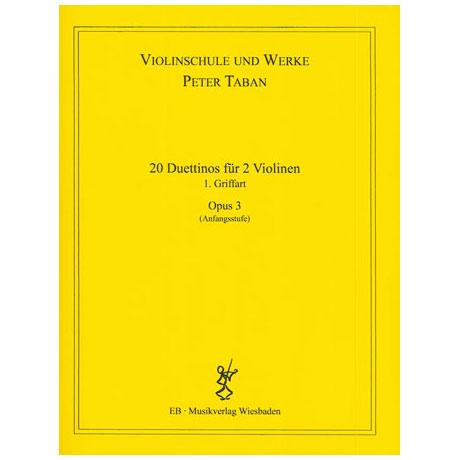 Taban, P.: Op. 3: 20 Duettinos für 2 Violinen Band 1