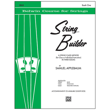 Applebaum, S.: String Builder Book One – Cello