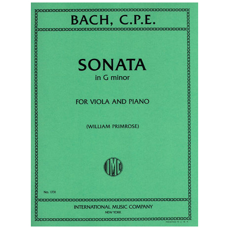 Bach, C.Ph.E.: Sonate in g-moll